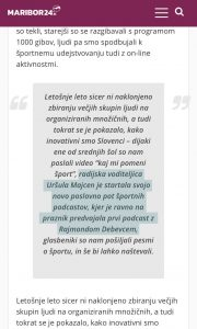 Maribor24.si podcast Uršula Majcen, 23. september